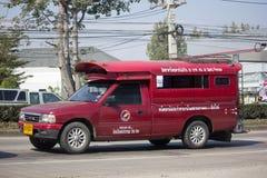 Taxi rosso Chiang Mai Servizio in città ed intorno Fotografia Stock