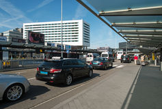 Taxi's before Schiphol Amsterdam Airport Stock Image