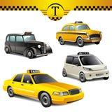 Taxi samochody Ilustracji