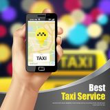 Taxi Service Application Royalty Free Stock Photo