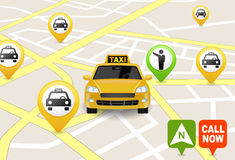 Taxi Service Apps Stock Images