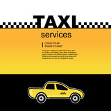 Taxi service background Royalty Free Stock Photos