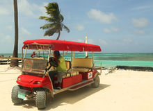 Taxi service at Caye Caulker, Belize Royalty Free Stock Photos