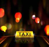 Taxi service in city Royalty Free Stock Images