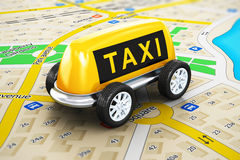 Taxi service concept Stock Photography