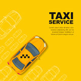 Taxi service concept. Vector banner, poster or flyer background template. Royalty Free Stock Photography