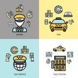 Taxi service design concept flat Stock Photos