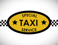 Taxi service design Stock Image