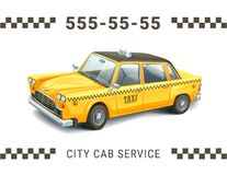 Vector Illustration Taxi Service Design Detailed Of Yellow Car On White Background Banner