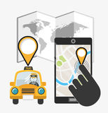 taxi service design Stock Images