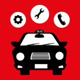Taxi service design Royalty Free Stock Image