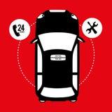 Taxi service design Stock Photos