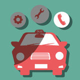 Taxi service design Royalty Free Stock Photography