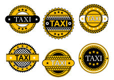 Taxi service emblems and signs Royalty Free Stock Photos