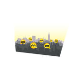 Taxi service header. Taxi sign city background. Call taxi pointe Stock Image