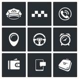 Taxi Service icons set. Vector Illustration. Stock Photos