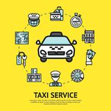 Taxi Service Illustration Royalty Free Stock Image