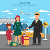 Taxi Service Illustration Stock Photo