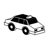 Taxi service isometric icon Stock Photography