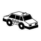 Taxi service isometric icon Royalty Free Stock Photos