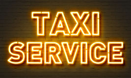 Taxi service neon sign Stock Photography