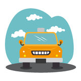 Taxi service public icon Royalty Free Stock Images
