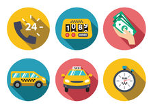 Taxi service set Royalty Free Stock Images