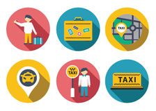 Taxi service set Royalty Free Stock Photography