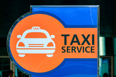 Taxi Service Sign Stock Photo
