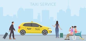 Taxi service Stock Photo