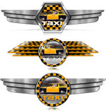 Taxi Service - Winged Metal Symbols Royalty Free Stock Photography