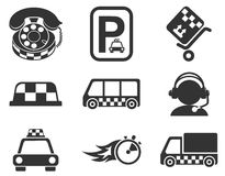 Taxi services icon set Royalty Free Stock Photography