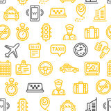 Taxi Services Pattern Background. Vector Stock Images