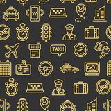 Taxi Services Pattern Background. Vector Stock Photography