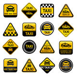 Taxi set buttons Stock Photos