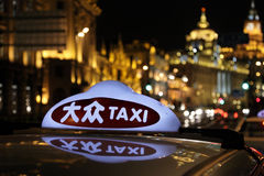 Taxi in Shanghai Stock Photography