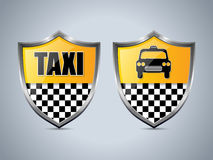 Taxi shield badge design set Stock Photos