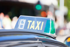 Taxi shield in Barcelona Stock Images