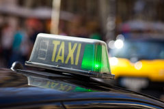 Taxi in Barcelona Stock Image