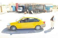 Taxi in Sidi Ali Ben Aoun Royalty Free Stock Photography