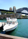Taxi Sidney dell'acqua Fotografia Stock