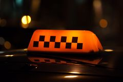 Taxi sign Royalty Free Stock Photography