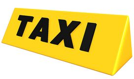 Taxi sign Stock Image