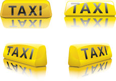 Taxi Sign. Vector illustration of new york taxi signs in different angles Royalty Free Illustration