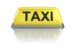 Taxi sign. On white background Stock Photography