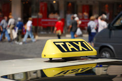 Taxi sign. At downtown munich Royalty Free Stock Image