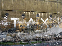 Taxi sign. Taxi parking sign on the grunge wall stock photos