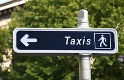 Taxi sign. In Paris, France Stock Photo