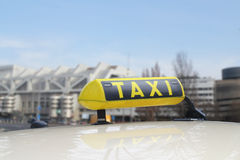 A taxi sign Stock Photo