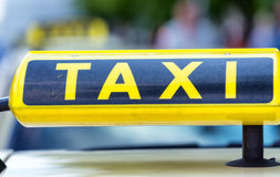Taxi sign in Berlin, Germany.  Royalty Free Stock Image